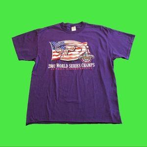 VTG 2001 Arizona Diamondbacks World Series Tee